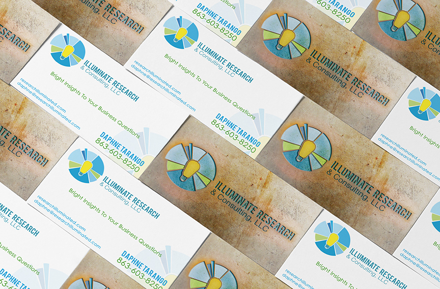 Illuminate reasurch business cards torch designs illuminate reasurch business cards colourmoves